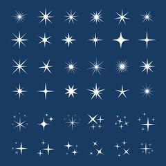 Vector sparkles icon set. Star element