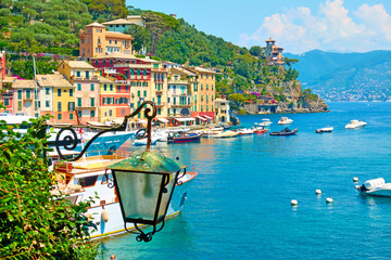 View of Portofino town
