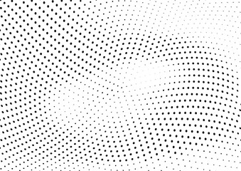 Keuken foto achterwand Abstract wave Abstract halftone wave dotted background. Halftone twisted grunge pattern, dot, circle. Vector modern optical halftone pop art texture for poster, business card, cover, label mock-up, sticker layout