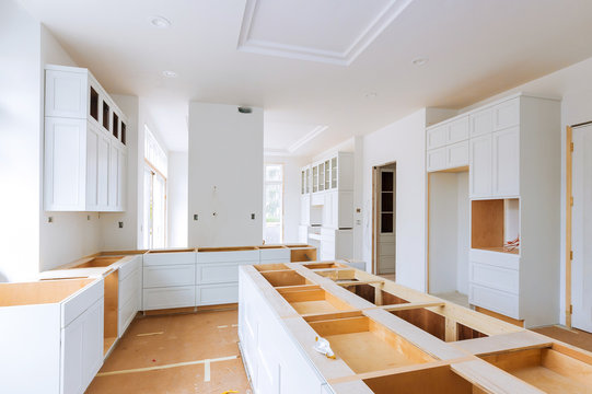 Custom kitchen in various of installation base cabinets