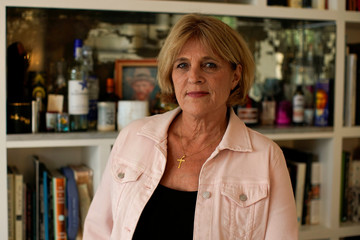 Paula Lawlor poses for a portrait in Solana Beach, California