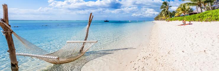 tropical beach in Mauritius  Fototapete