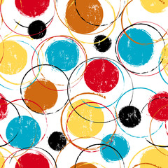 seamless abstract background pattern, with circles, strokes and splashes