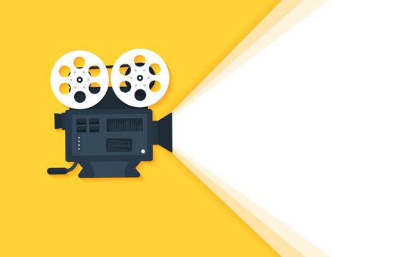 Movie time concept. Cinema banner design
