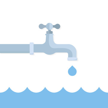 Turn off the water flat icon