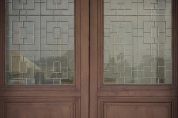 door with warehouse closeup photo stock