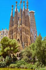 Foto op Canvas Barcelona Sagrada Familia church in Barcelona.
