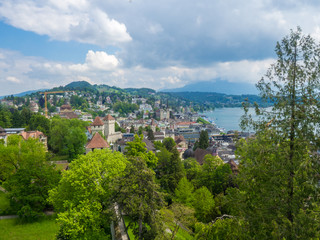 Blick auf Luzern und Vierwaldstättersee