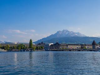 Berg Pilatus mit Blick auf Luzern in der Schweiz