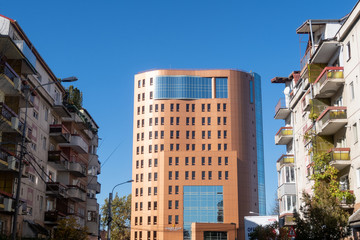 Sibiu, Romania - 5 Nov, 2019: Golden Tulip Ana Tower hotel in Sibiu, Romania.
