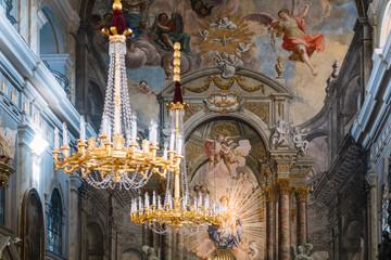 Sibiu, Romania - 5 Nov, 2019: Holy Trinity Cathedral, Sibiu, Romania