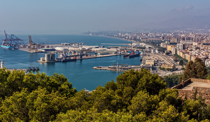 Hafen in Malaga Andalusien