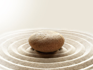 Foto op Plexiglas Stenen in het Zand zen garden meditation stone background with stones and lines in sand for relaxation balance and harmony spirituality or spa wellness