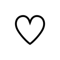 Heart icon outline black color vector image design