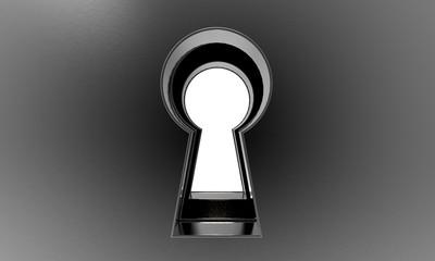3D illustration of keyhole