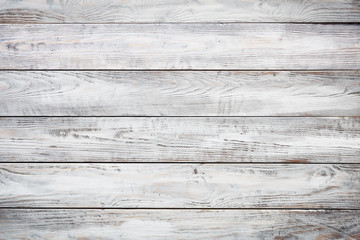Poster Bois Gray wooden background with old painted boards