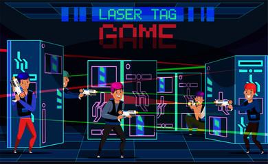 Game Laser tag vector illustration
