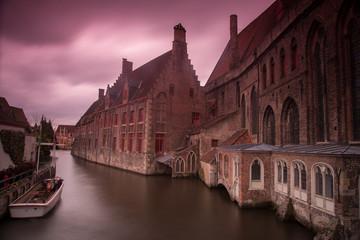 Foto auf Leinwand Brugge Brugges in belgium