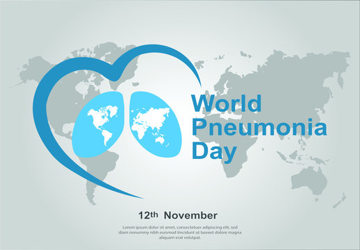 Vector illustration of a Banner or Poster for World Pneumonia Day.