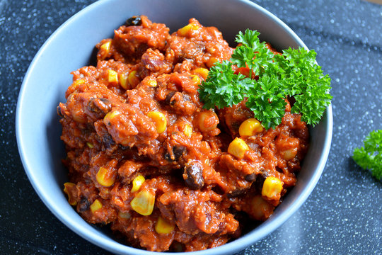 Chili sin carne, Chili vegan, Vegane Chilipfanne