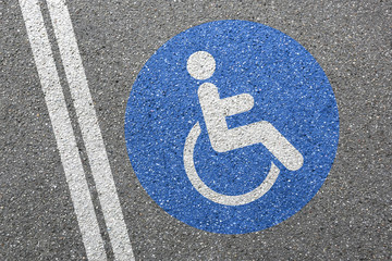 Wheelchair wheel chair road sign disabled handicapped ramp access street