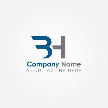 Initial BH Letter logo vector template design. Linked Letter BH Logo design.