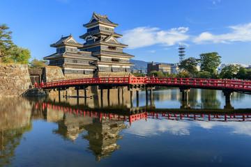 夕暮れの松本城 長野県松本市 Matsumoto Castle Nagano Matsumoto sity