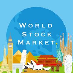 世界株式市場 ポスター