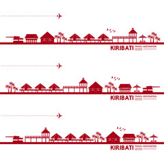 Kiribati travel destination grand vector illustration.