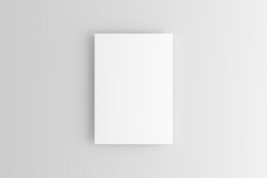 A4 A5 Flyer White Blank Mockup