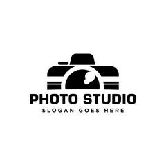 Camera illustration related to photo studio logo