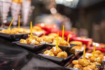 Spain Tapas Snacks on Food Market in Barcelona