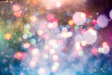 Colored abstract blurred light glitter background layout design can be use for background concept or festival background Fototapete