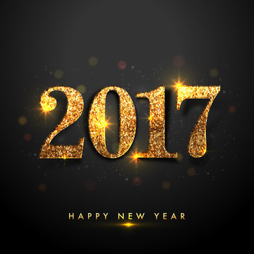 Golden Text 2017 for New Year Celebration.