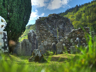 Cathédrale en ruine de Glendalough, Wicklow, Irlande