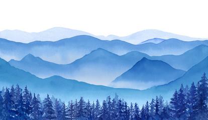 冬の山々の眺め