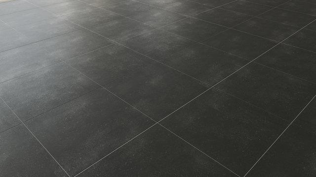 Pavimento in piastrelle gres porcellanato nero scuro