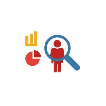 User Behavior icon. Flat creative element from big data icons collection. Colored user behavior icon for templates, web design and software