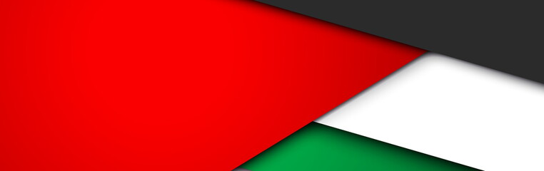 flat paper illustration card Spirit of the union, 48 National day, United Arab Emirates, 2 December. UAE 48 Independence Day background in national flag color theme Celebration banner with ribbon flag