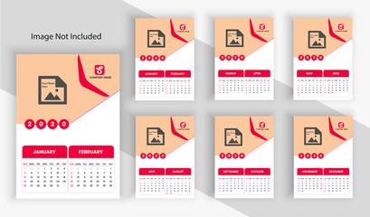 Calendar Design Template 2020