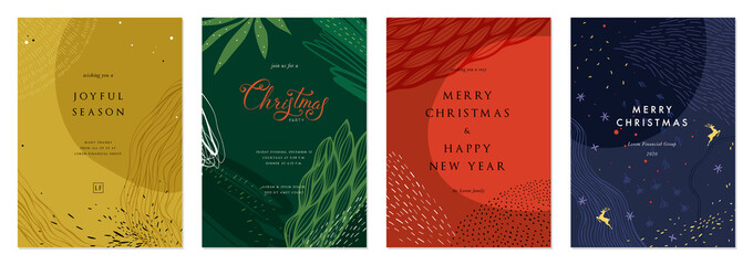 Merry Christmas and Bright Corporate Holiday cards. Fototapete