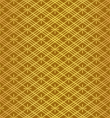 Gold Hishi Japanese Diamond Decorative Luxury Pattern