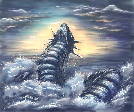 sea and dragon