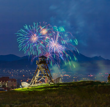 Symphony under the stars fireworks with the firetower