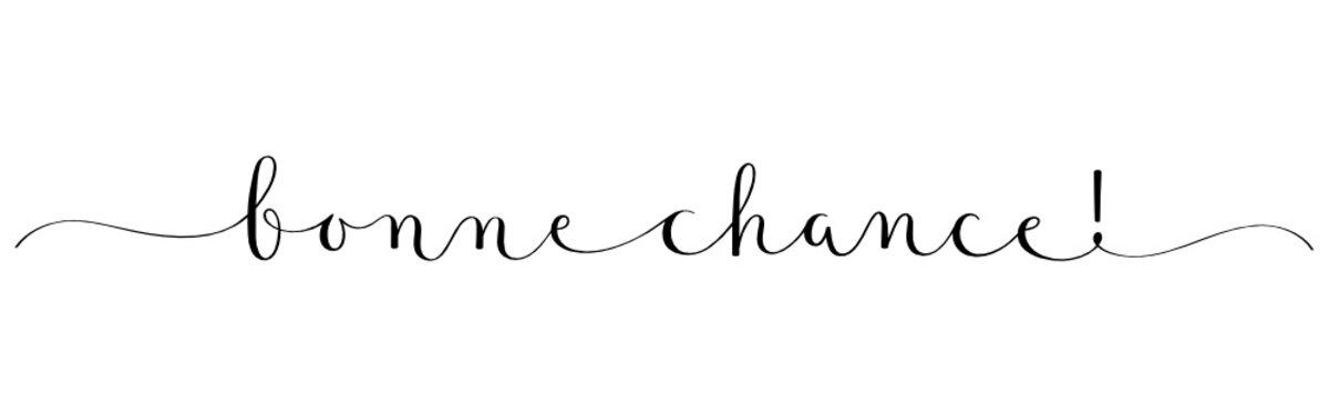 Calligraphie vecteur BONNE CHANCE!