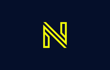 Initial N Letter Logo Design Vector Template. Monogram and Creative Alphabet NN Letters icon Illustration.