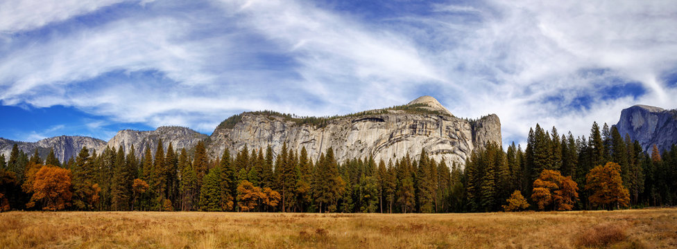 Royal Arches Panorama in Autumn, Yosemite National Park