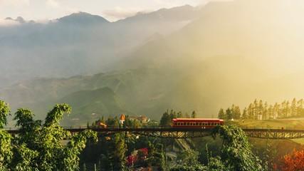 Photo sur Aluminium Beige village in the mountains