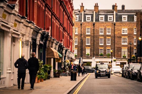 Blurred / Defocused  London West End shopping street