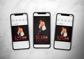 Black Friday Social Media Layout Set